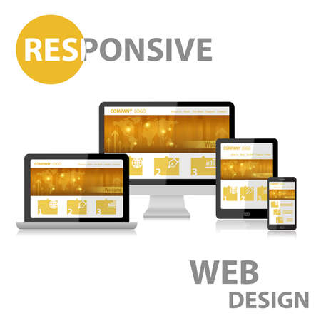 web screen: Responsive Web Design on Various Device