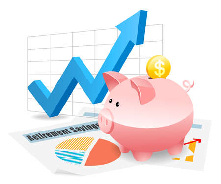 Piggybank Savings Investment Planning for Future Фото со стока - 45797434