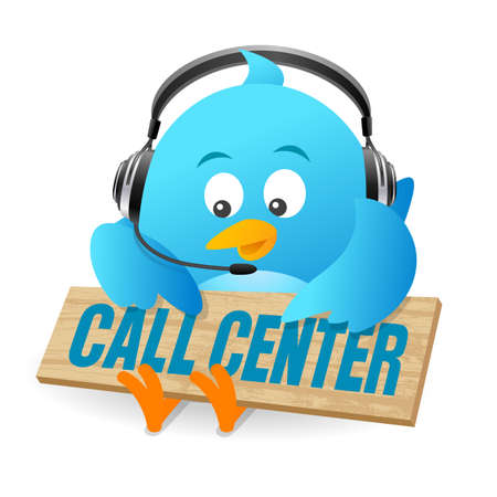 Blue Bird Call Center Sign Stock Photo Picture And Royalty Free Image Image 47031338