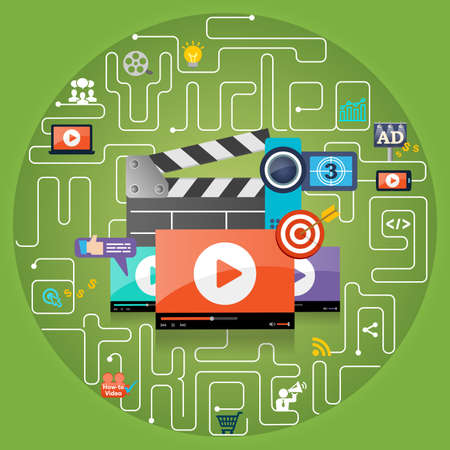embed: Video Marketing Advertising Concept Background