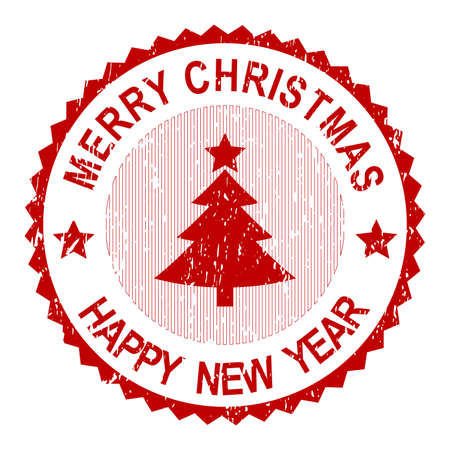 sign post: Christmas Greeting Stamp Stock Photo