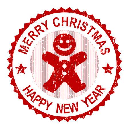 greeting christmas: Christmas Greeting Stamp Stock Photo