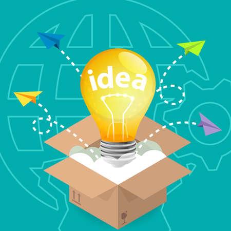 think outside the box: Innovation Idea Think Outside The Box Stock Photo
