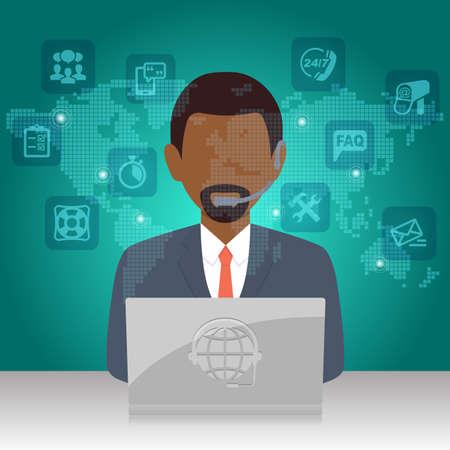 service desk: Customer Service Technical Support Help Desk Communication infographic Stock Photo