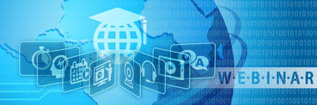Webinar Training Online Education Concept Banner