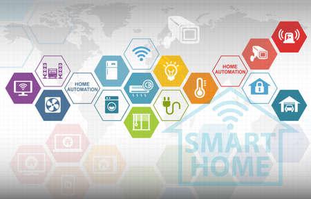 Smart Home automazione remota Sfondo di controllo