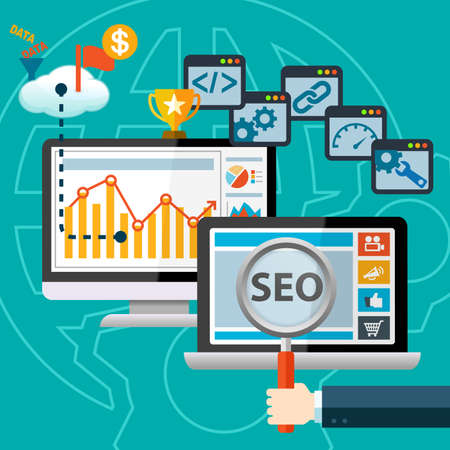 SEO Search Engine Optimization Marketing Concept Infographic
