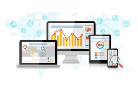 SEO 검색 엔진 최적화 마케팅 개념 인포 그래픽