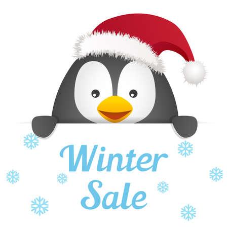 christmas greeting: Penguin Christmas Greeting Message
