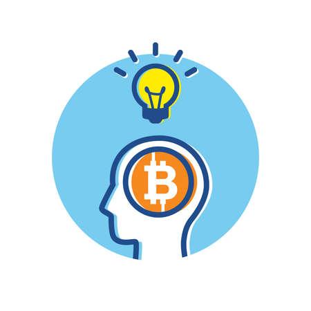 Fintech Financial Technology Bitcoin Big Idea Thinking Concept infographic