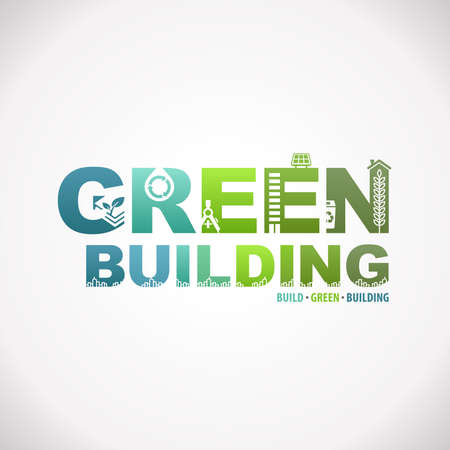 Green Building Sustainable Development Design Text Infographic