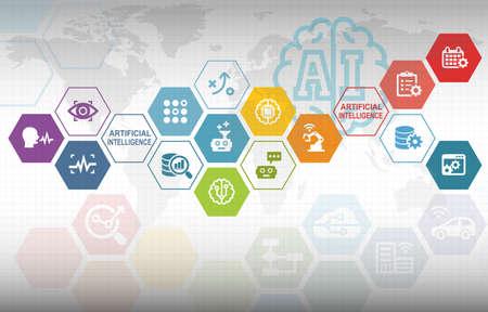 Kunstmatige Intelligentie Automatisering Infografische Achtergrond