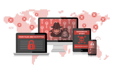 Ransomware Attack Malware Hacker Around The World Infographic