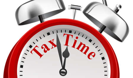 Tax Time Deadline Announcement Concept on white background