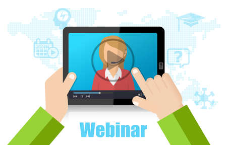 Webinar Training, Online Conference and Education using Mobile Device