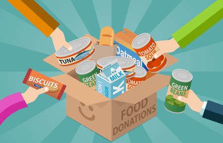 Food drive donation box