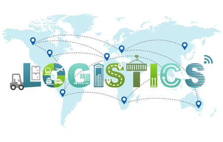 Global Logistics and Delivery Concept Design Text Infographic