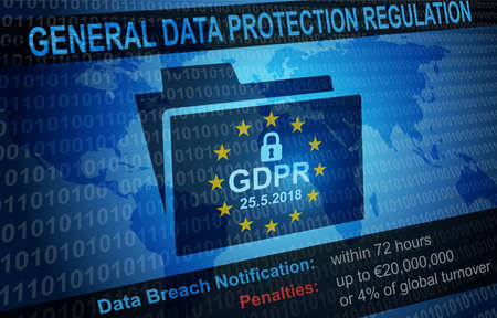 GDPR General Data Protection Regulation Notification Background Stock Photo