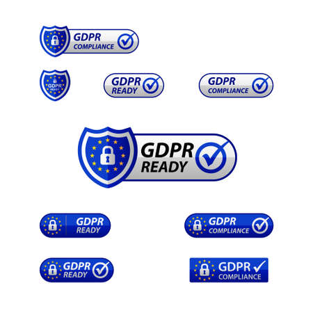 GDPR General Data Protection Regulation  Notification web button
