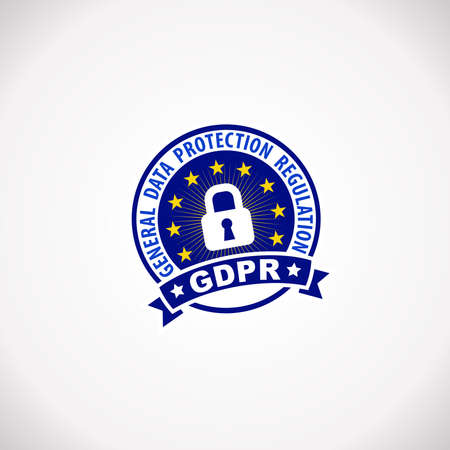 GDPR General Data Protection Regulation  Notification Rubber Stamp Label