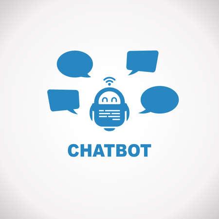 Chatbot Robo Advisor Gespräch mit Sprechblasen