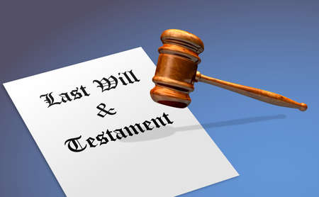 Last Will and Testament Document With Gavel