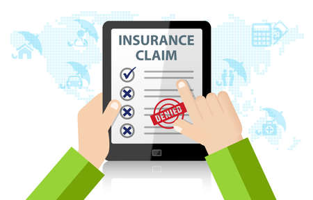 Online Insurance Claim Service. Life, injury, medical, home, car Insurance 免版税图像