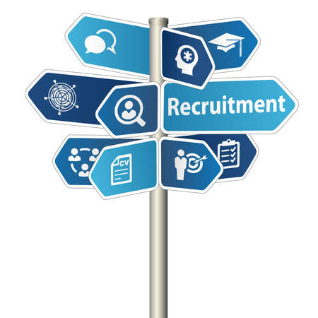 Recruitment And Hiring Human Resources  Headhunting Service Concept Sign