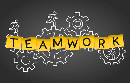 Teamwork Team Cooperation Workforce Group Concept Background