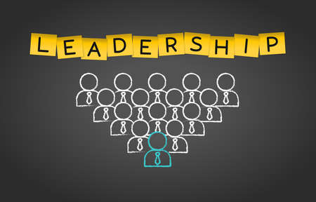 Leadership Business Management Teamwork Group concept Background