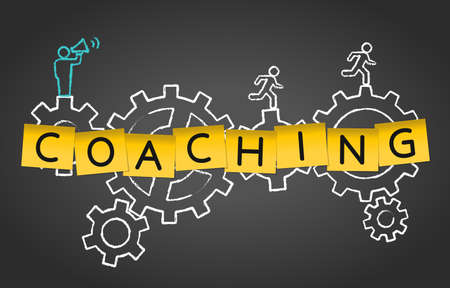 Coaching Mentoring Training Advice Gear Concept Background