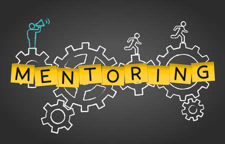 Mentoring Coaching Training Advice Gear Concept Background