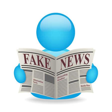 Fake News Newspaper Avatar Misleading Headline Alternative facts Media Bias Stock Photo