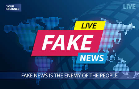 Fake News Live Broadcasting Television Screen Background Stock fotó