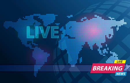 Breaking News Live Broadcasting Television Screen Background