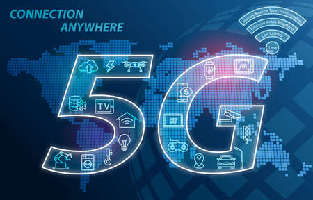 5G network wireless technology Connection Anywhere