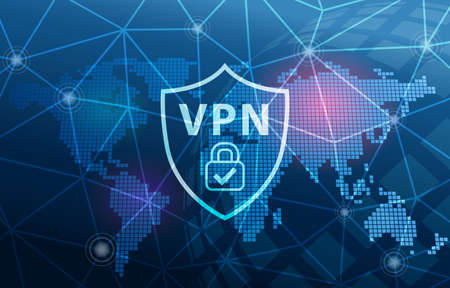 VPN Virtual Private Network Technology Secure Connection Cyber Security Background