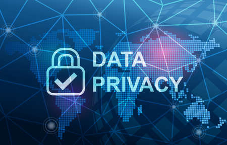 Data Privacy Protection Compliance Concept Background Фото со стока