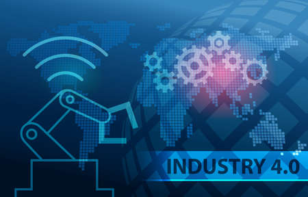 Industry 4.0 Automation Background