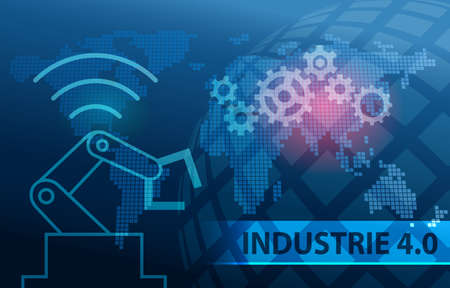 Industrie 4.0 Automation Background