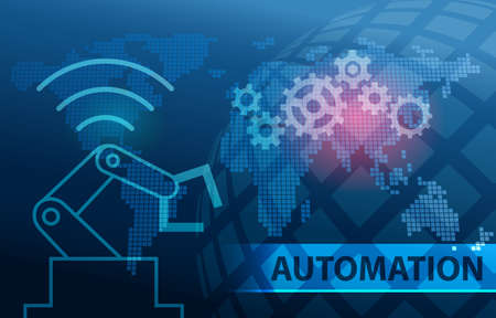 Automation Industry 4.0 Background Фото со стока