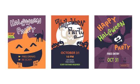 Cartel de promoción de tarjeta de felicitación de invitación de fiesta de Halloween