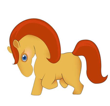 gee gee: A cute cartoon horse Illustration