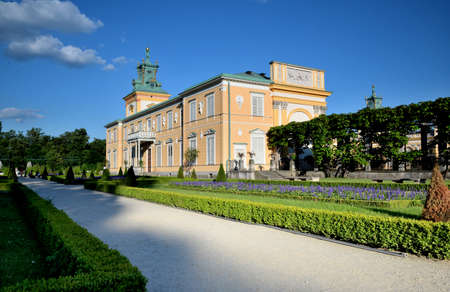 A view of the historic palace in Wilanow in Warsaw