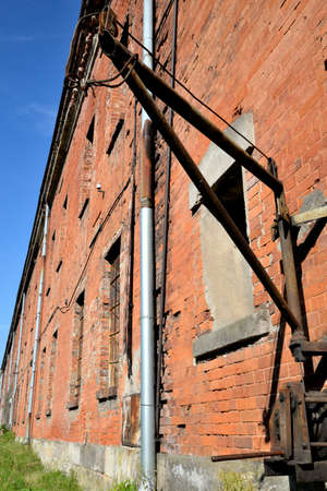 Historic fortress Modlin building barracks and bullet traces Stock Photo