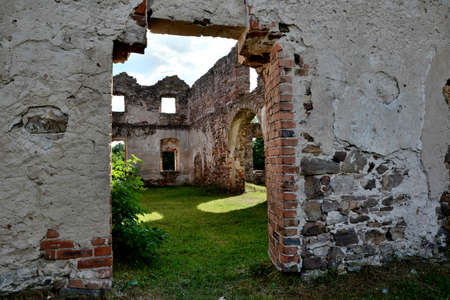 historic brick factory ruins destroyed by fire