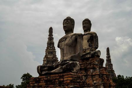 Ancient Buddhist pagoda ruins at Chai Watthanaram temple Ayutthaya, Thailand
