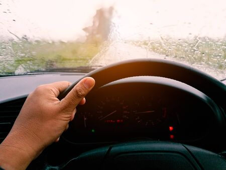 Drive while its raining on the way.