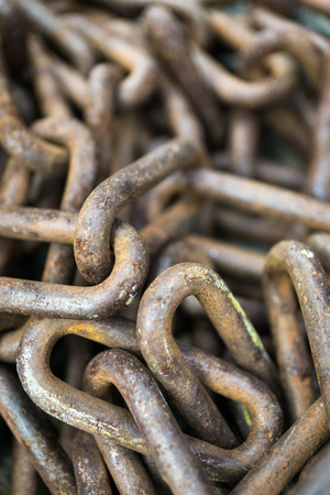 details of rusty chains