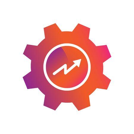 setting graphic chart progress button vector icon Ilustracja
